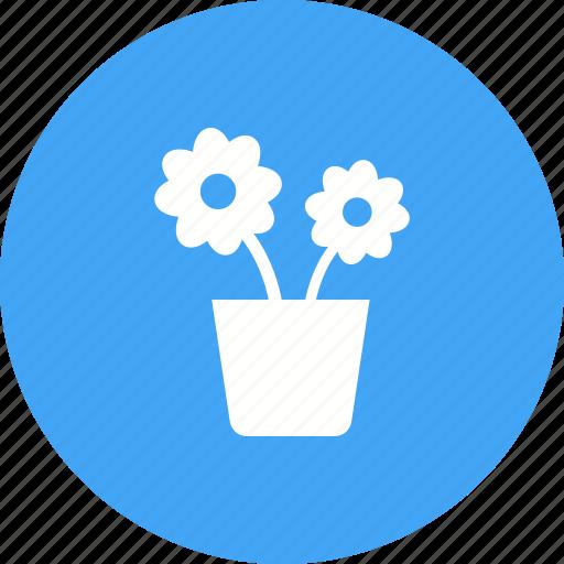 Plant, flower, garden, nature, spring, pot, decoration icon