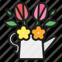 spring, springtime, seasons, flowers, easter, bouquet