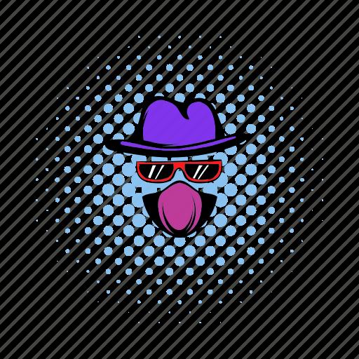 agent, anonymous, comics, service, spy, sunglasses, surveillance icon