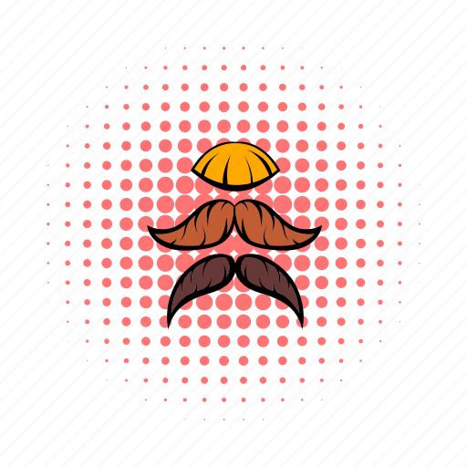barber, comics, curl, hair, moustache, mustache, old icon