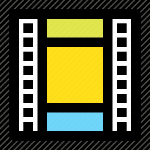 film, frame, movie, square icon
