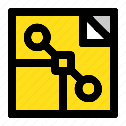 document, file, guide, image, point, square, vector type icon