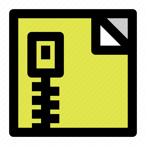 archive, document, file, square, zip icon