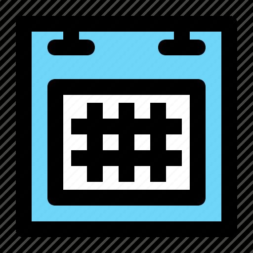 calendar, date, event, square, table icon