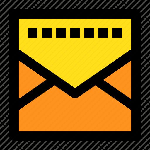close, mail, message, square icon