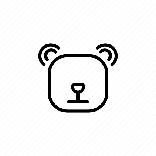 animal, bear, danger, forest, teddy, teddy bear, wild icon