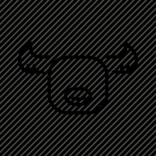 animal, buffalo, bull, farm, ox, plow, yak icon