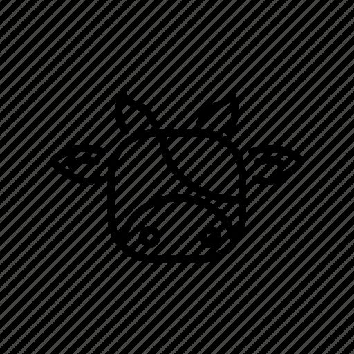 Animal, beef, bovine, bull, cow, farm, milk icon - Download on Iconfinder