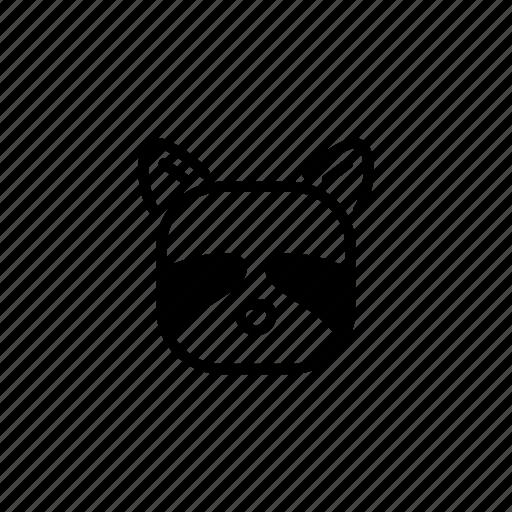 animal, avatar, head, raccoon, raccoon face, wild, zoo icon