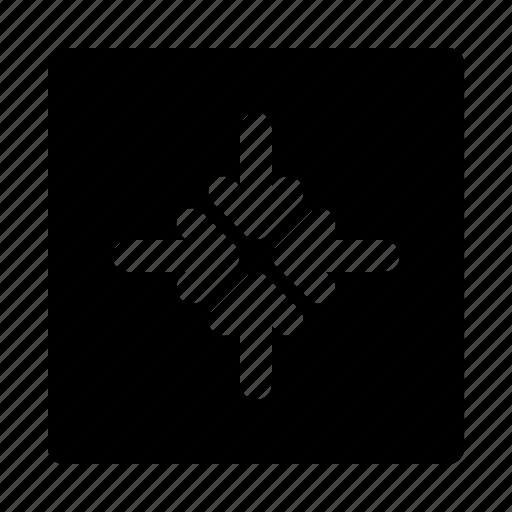 arrow, arrows, compress, direction, move icon
