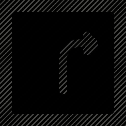 arrow, arrows, direction, move, right, turn icon
