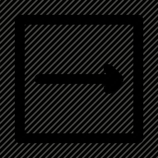 arrow, arrows, direction, move, right, thin icon