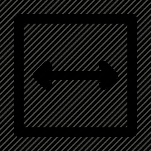 arrow, arrows, direction, move, thin, width icon