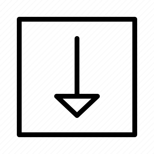 arrow, arrows, direction, down, move icon