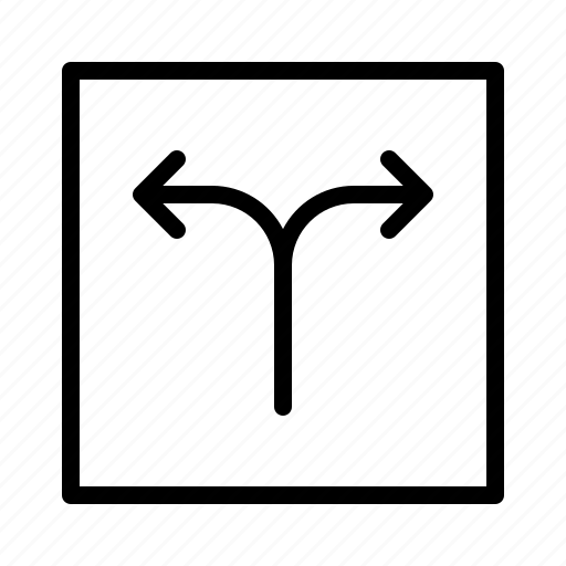 arrow, arrows, decision, direction, fork, move icon