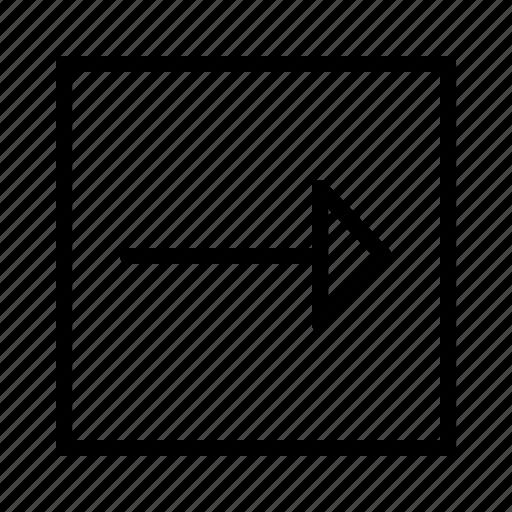 arrow, arrows, direction, move, right icon