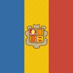andorra, square icon