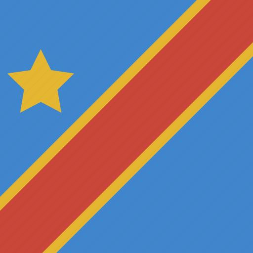 congo, democratic, republic, square icon