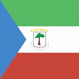 equatorial, guinea, square icon