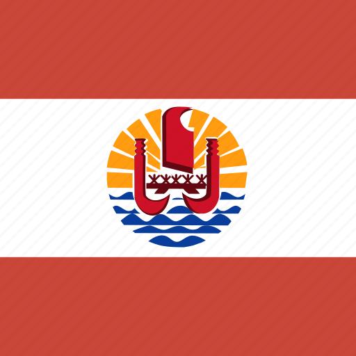 french, polynesia, square icon
