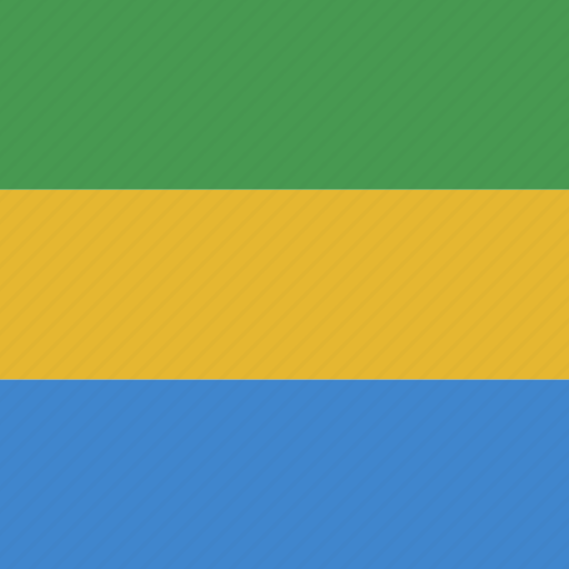 gabon, gabonese, republic, square icon