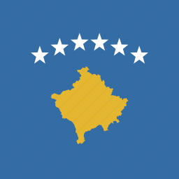 kosovo, square icon