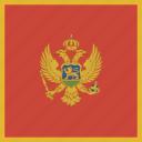 montenegro, square icon
