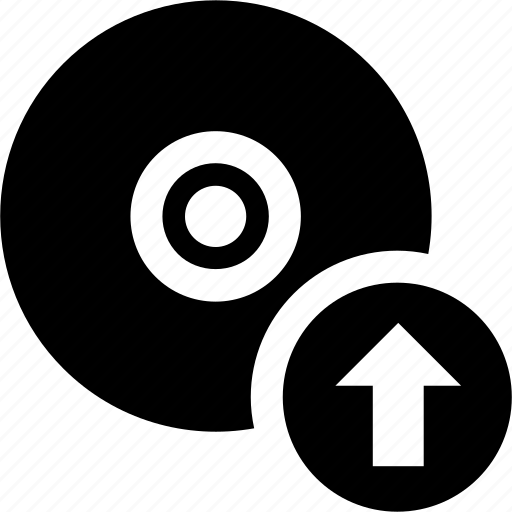 arrow, cd, image, up, upload, write icon