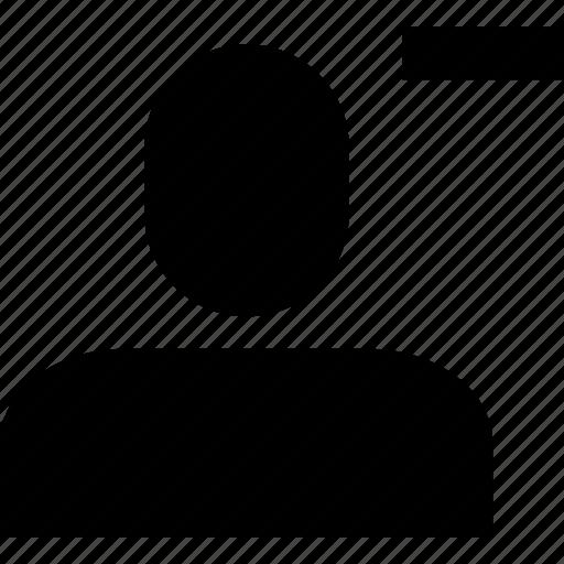 account, minus, profile, remove, user icon