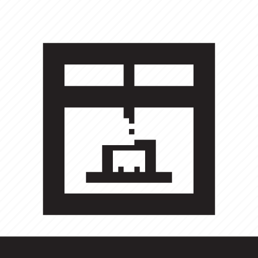 abs, dimensional, pla, printer, three icon