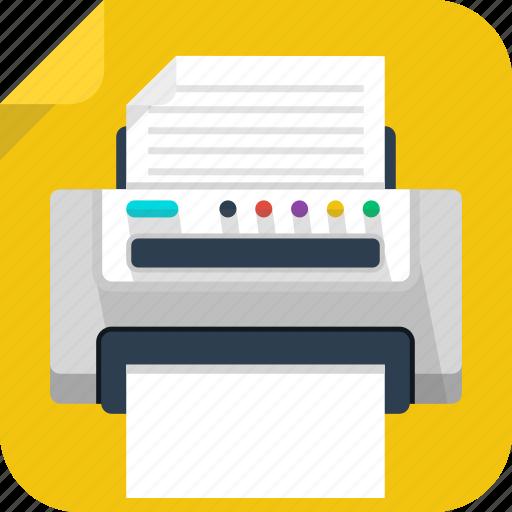 device, machine, paper, print, printer icon