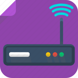 internet, router, signal, wifi icon