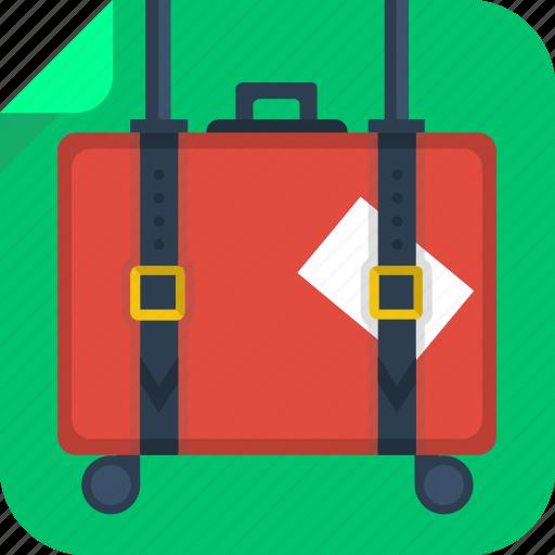 baggage, case, luggage, suitcase, travel icon