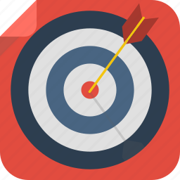 arrow, goal, success, target icon