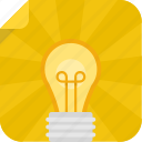 bulb, creative, idea, light, light bulb icon