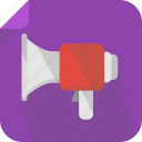 megaphone, sound, talk, voice, volume icon