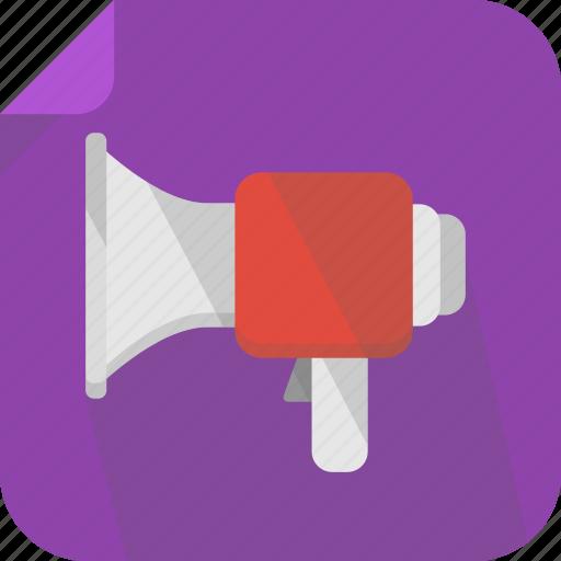 megaphone, sound, talk, voice, volume icon