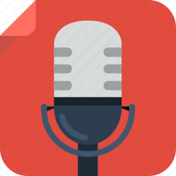 mic, microphone, music, rec, recording, sing, voice icon