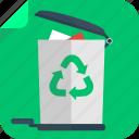 bin, corb, eco, green, recycle bin, trash icon