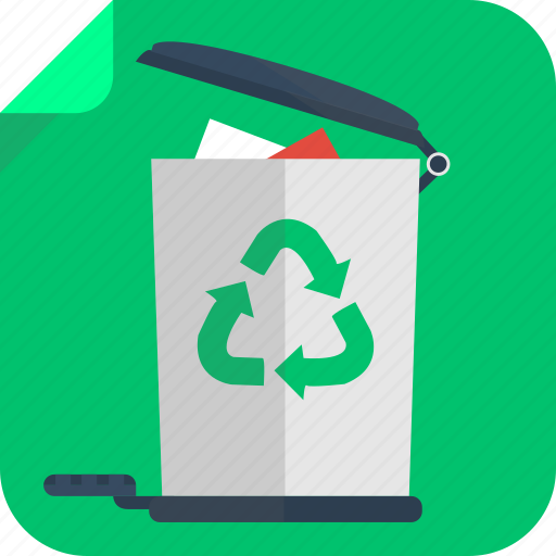bin, corb, eco, green, recycle bin, trash icon
