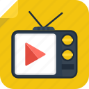 film, movie, play, television, tv, watch icon