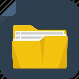 file, folder, letter, paper icon