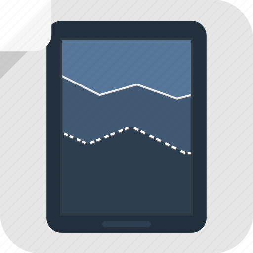 analytics, apple, business, chart, device, graph, ipad, marketing, results, sales, tablet icon
