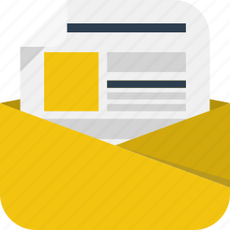 email, envelope, letter, message, newsletter icon