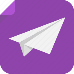 flight, fly, paper, plane icon