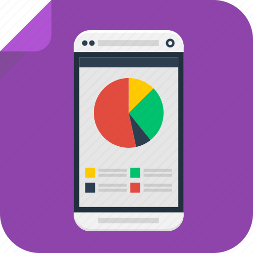 analytics, business, chart, graph, marketing, phone, pie, results, sales, seo, statistics, stats icon