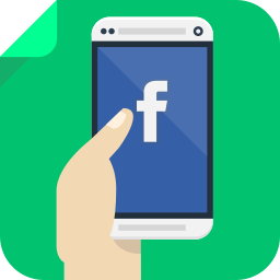 app, facebook, internet, phone, smartphone, social, social network icon