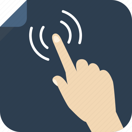 finger, pointing, screen, tactile, touch icon