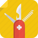 corkscrew, file, knife, swiss icon