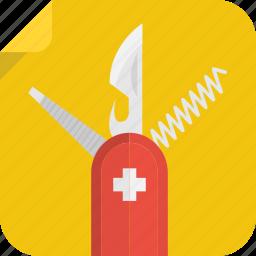 corkscrew, file, knife, swiss icon